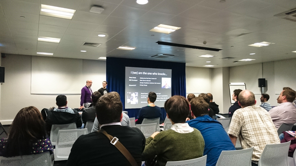 Steve Poole (IBM) and Daniel Bryant's (OpenCredo) session: 'DevOps and the Cloud: All Hail the (Developer) King!'