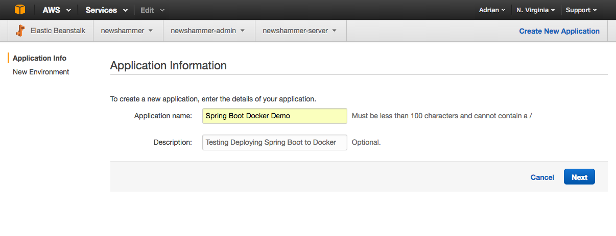 Deploying a Spring Boot Microservice To Docker / AWS Elastic