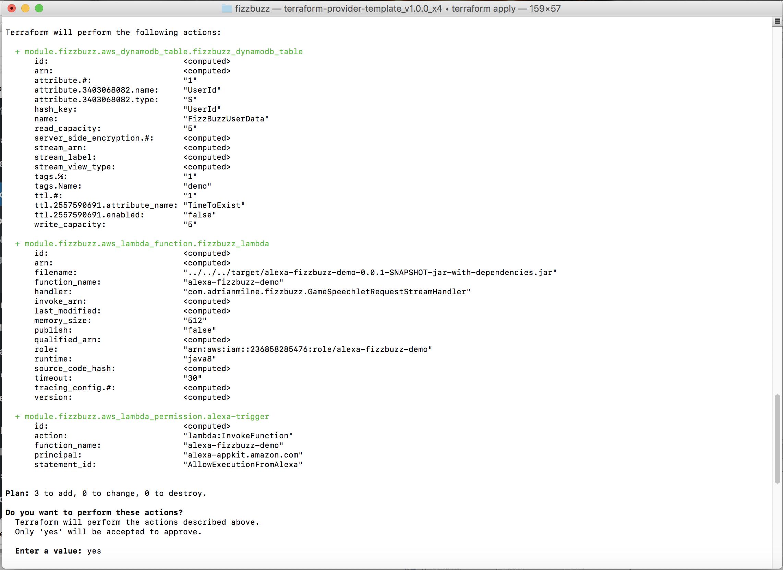 Developing an Alexa Skill: Part 2, Deploying to AWS Using Terraform